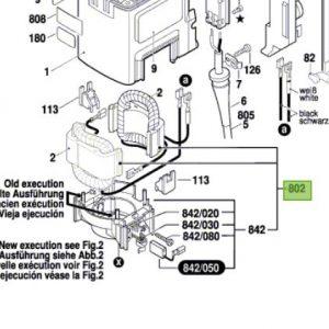 Estator para GSH 11E (11316) Bosch / 1607000C3V